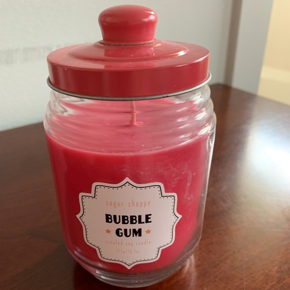 Other - Hot Pink Soy Candle with Bubble Gum Scent!